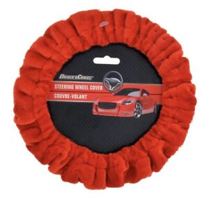 New Drivers Choice Steering Wheel Cover Soft Stretch Red Universal