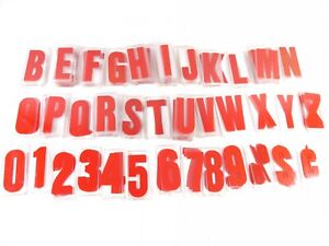 192 Pc Lot 4 Inch Gemini Marquee Sign Display Plastic Letters Numbers Red