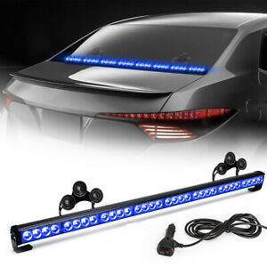 36 13 Led Modes Traffic Advisor Emergency Warning Strobe Light Bar Kit Blue