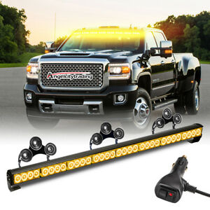 36 13 Led Modes Traffic Advisor Emergency Warning Strobe Light Bar Kit Amber
