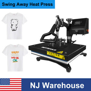 12x9 Digital Heat Press Machine T shirts Sublimation 360 Swing Away Transfer Us