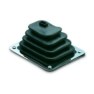 Hurst 1148429 Indy Boot And Plate Shifter Boot Rubber With Black Finish