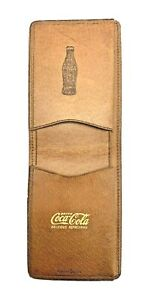 VINTAGE Coca-Cola Wallet GENUINE Pigskin with Gold Lettering MINT CONDITION