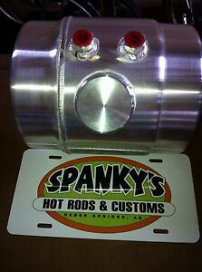 2 Gal Spun Aluminum Vintage Gasser Fuel Injection Tank And Brackets