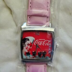 Coca cola  watch new with pink band