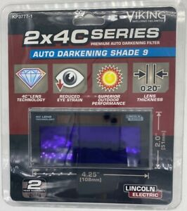 Lincoln Electric 2x4 C series Auto darkening Welding Lens Shade 9 Kp3777 1