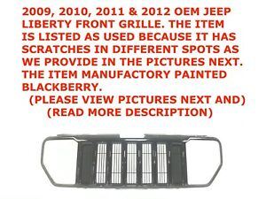 2009 2010 2011 2012 Jeep Liberty Front Upper Bumper Grille Blackberry 55157218ac