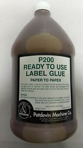 Potdevin P200 Paper To Paper Ready To Use Label Glue Gallon