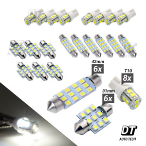 20x White Led Light Interior Package Kit For T10 31mm Map Dome License Plate