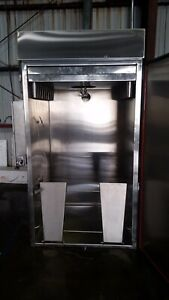 New Smokehouse Electric Smoker Oven Single Rack Cart Commercial
