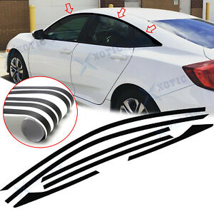 6x Chrome Delete Vinyl Blackout Window Trims Kit For Honda Civic Sedan 2016 2020