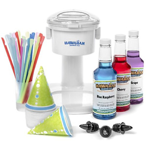 Hawaiian Shaved Ice And Snow Cone Machine Party Package New