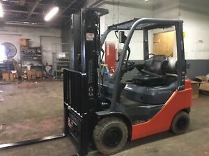 2018 Toyota 3500 Lb Solid Pneumatic Forklift With Side Shift And Triple Mast