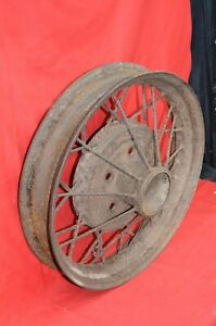 Ford Model A 19 Inch Wire Rim 5 Lug Spoke Wheel Tire Original 1930 1931 Vintage