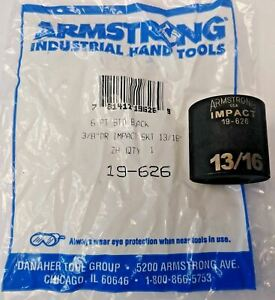 Armstrong 19 626 3 8 Drive 6 Point Impact Socket 13 16 Usa