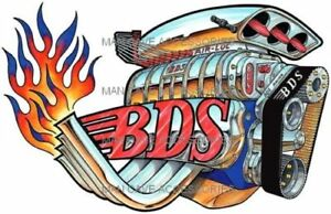 Flamed Blower Dragster Engine Bds Air Loc Vinyl Decal Sticker 4293