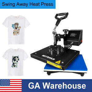12x9in Swing Away T shirt Heat Press Transfer Machine For Diy Gifts Printing Us