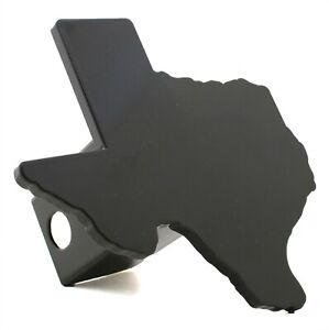 State Of Texas Black Metal Hitch Cover