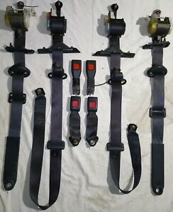 89 92 Toyota Supra Seat Belt Complete Set All Hardware Front Rear L R Gray Nice