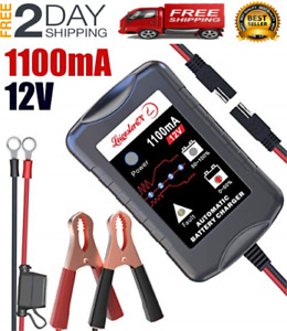 12v Automatic Battery Charger Maintainer Tender Car Motorcycle Atv Boat