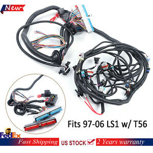 New 1997 2006 Ls1 Standalone Wiring Harness T56 Or Non electric Trans Dbc Us