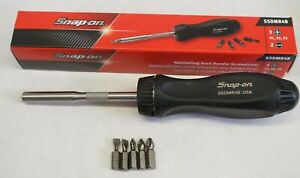 New Snap on Ssdmr4b Ratcheting Magnetic Screwdriver Black