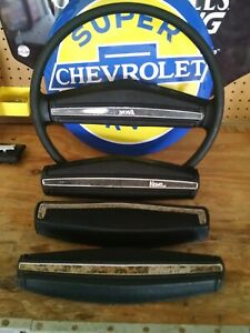 1969 77 Chevelle Camaro Nova Monte Carlo Steering Wheel Black Your Choice 4 Caps