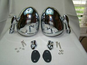 Vintage Style Dummy Lights Chrome Steel Dummy Spot Lights Stoplights Accessory