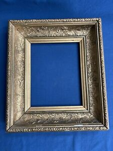 Antique Victorian Ornate Floral Gold Gilt Gesso Wood Picture Frame