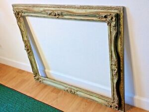 Large Ornate Victorian Or Art Deco Period French Provincial Picture Frame