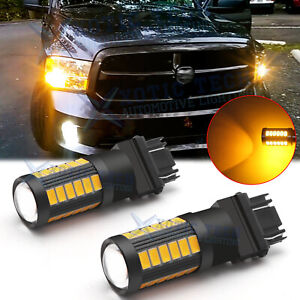 3000k 3157 3057 Led Front Turn Signal Light Bulbs For Dodge Ram 1500 2500 3500