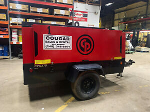 Used Chicago Pneumatic 375 Cfm Diesel Air Compressor Great Condition