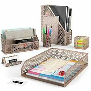 Arteza Desk Organizer Accessories Set In Rose Gold 6 piece rose Gold