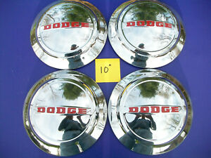 Vintage 1953 1956 Dodge Pick Up Panel Truck 10 Hub Caps 1487537