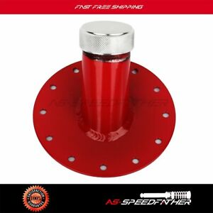 Fuel Cell Gas Tank 45 Degree 1 5 Remote Fast Fill 2 75 Filler Neck Cap Red