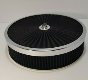 Rpc 14 X 3 Black Super Flow Top Air Cleaner With Dropped Base chevy ford hot Rod
