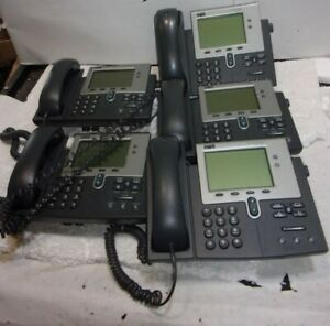 Lot Of 5 cisco 7941 Cp 7941g Digital Display Ip Office Phone See Notes