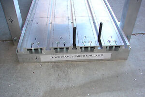 T slotted Table Cnc Router Extruded Aluminum Top 2 W X 4 L Slots In 4 Dir