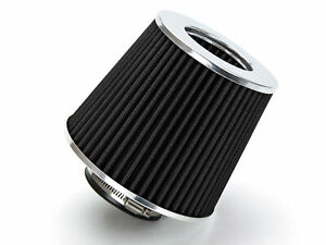 Black 2 75 Inches 2 75 70mm Inlet Cold Air Intake Cone Dry Filter