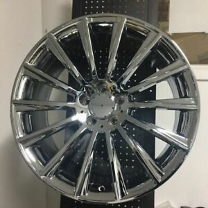 4 Set Of Brand New S550 Style 22 Amg Chrome Rims Wheels Fits Mercedes Benz