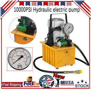 110v Electric Hydraulic Pump High Pressure Hydraulic Motor Pump 10k Psi Hhb 700a