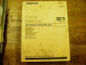 Cat Caterpillar 627f Tractor Scraper Parts Book 1dl 4yk Vol 1 Feb 1998