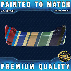 New Painted To Match Rear Bumper Cover Fascia For 2011 2012 2013 Toyota Corolla