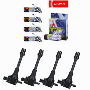 Uf351 Ignition Coils Denso 4505 Spark Plugs For 02 06 Nissan Sentra 1 8l