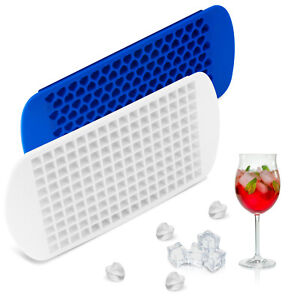 2 Pack Ice Cube Maker Molds 160 Mini Small Trays Silicone Bar Whiskey Cocktails