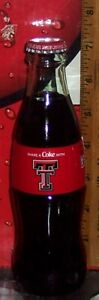 2020 COCA - COLA SHARE A COKE WITH TEXAS TECH UNIVERSITY 8OZ COCA COLA BOTTLE