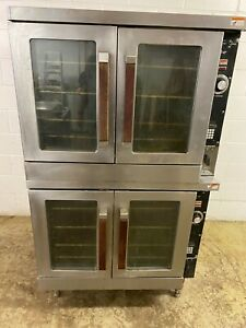 Vulcan Full Size Double Stack Convection Ovens Nat Gas 115 V Tested
