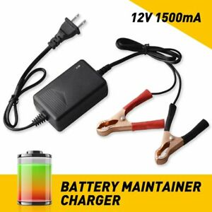 Battery Maintainer Charger 12v Portable Auto Trickle For Vehicle Boat Motorcycle