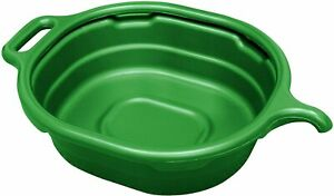 17982 4 5 Gallon Oval Drain Pan Green Convenient Drainage Large Collecting Area