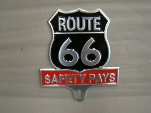 Stamped Metal Route 66 License Plate Topper Historic License Plate Topper 66